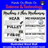 Pulleys and Gears Illustrated Word Wall (Grade 4 Ontario)