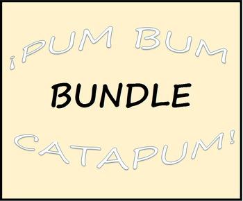 Pum Bum Catapum! Board Game (BUNDLE) – Multiple Verb Tenses
