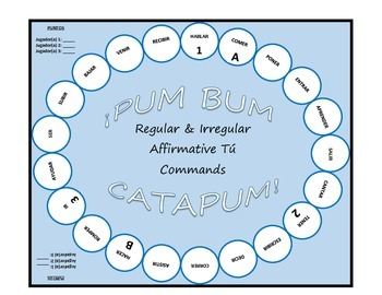Pum Bum Catapum! Board Game – Regular & Irregular Affirmat