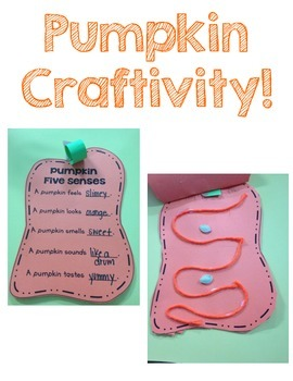 Pumpkin 5 Senses Craftivity!