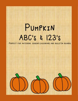 Pumpkin ABC's & 123's