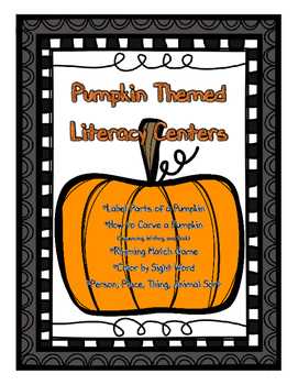 Pumpkin Activities/Center Activities