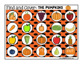 "Pumpkin Activities--""Find and Cover"""