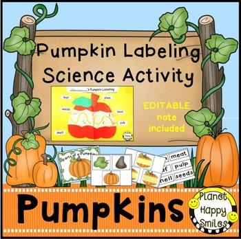 Pumpkin Activity ~ Pumpkin Labeling Science Activity and Reader, Planet Happy Smiles