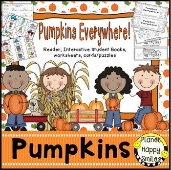 "Pumpkin Activity~ ""Pumpkins Everywhere"" Reader, Student Bo"