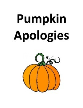 Pumpkin Apologies Creative Letter Writing