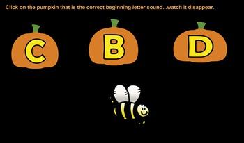 Pumpkin Beginning Letter Sounds
