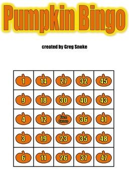 Halloween Pumpkin Bingo