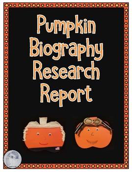 Pumpkin Biography Book Report