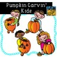 Pumpkin Carving Kids Fall Clip Art Kid-E-Clips Commercial