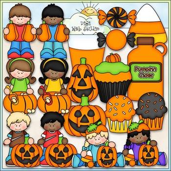 Pumpkin Carving Party Clip Art - Halloween Clip Art - CU C