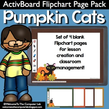 Pumpkin Cats ActivBoard Flipchart Page Pack