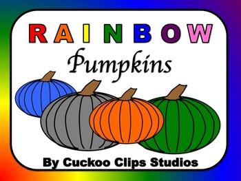 Pumpkin Clip Art (Rainbow)