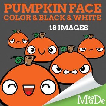 Pumpkin Clipart - Facial Expressions