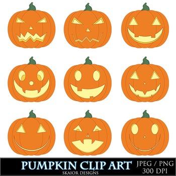 Pumpkin Clipart Jack O Lantern Clip Art Orange Autumn Samh