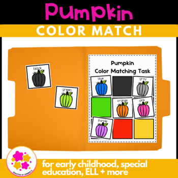 Pumpkin Color Matching Folder Game for Early Childhood Spe