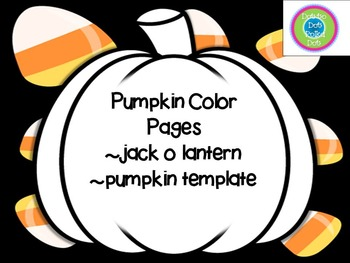 Pumpkin Color Page and Template-FREE!
