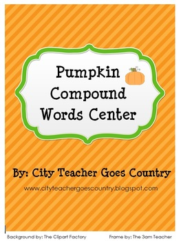 Pumpkin Compound Words Center