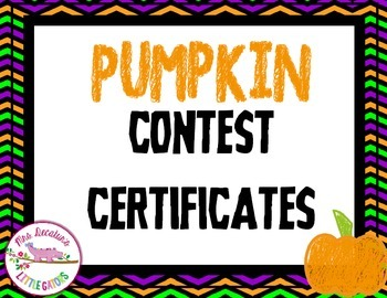 Pumpkin Contest Certificates