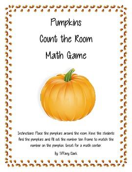Pumpkin Math Count the Room Game
