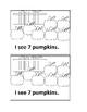 Pumpkin Counting Emergent Reader book for Preschool or Kin