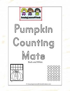 Pumpkin Counting Mats BW