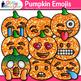 Pumpkin Emoji Clip Art {Halloween Emoticons and Smiley Fac