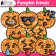 Pumpkin Emoji Clip Art - Emoticons and Smiley Faces - Halloween