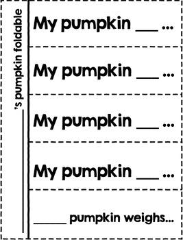 Pumpkin Foldable