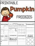 Pumpkin Freebies