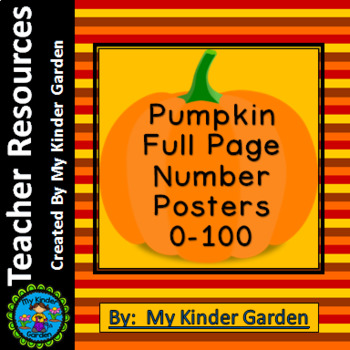 Pumpkin Full Page Number Posters 0-100