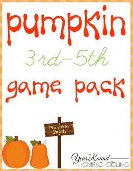 Pumpkin Game Pack (3rd-5th)