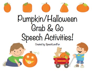 Pumpkin / Fall / Halloween Grab & Go Speech Activities (12