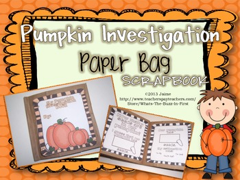 Pumpkin Investigation Paper Bag Scrapbook Kit {Hands On Sc