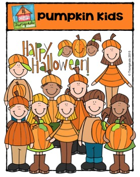 Pumpkin Kids {P4 Clips Trioriginals Digital Clip Art}