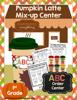 ABC Order Pumpkin Center- Fall Themed Latte Literacy Center