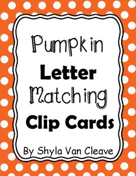 Pumpkin Letter Matching Clip Cards