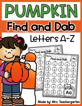 Pumpkin Letters A-Z Find and Dab