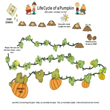 Pumpkin Life Cycle - An Open Ended Board Game