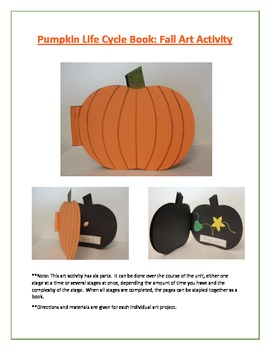 Pumpkin Life Cycle Book: Fall Art Activity
