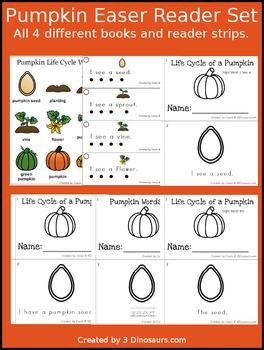Pumpkin Life Cycle Easy Reader Set