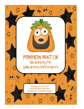 Pumpkin Match - An Activity for Similarities/Differences