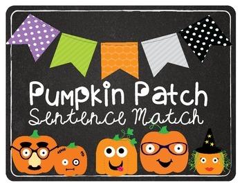 Pumpkin Match (Subject Verb Agreement) Halloween/Pumpkin T