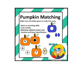 Preschool Pumpkin Matching Bundle