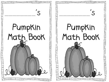 Pumpkin Math Book Freebie!