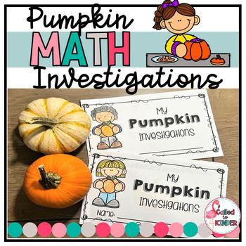 Pumpkin Math Investigation Mini-Book
