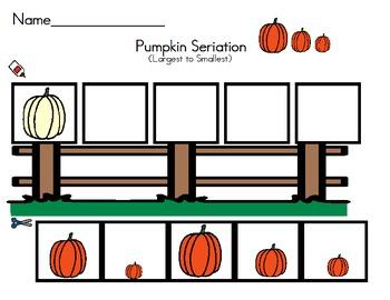 Pumpkin Math Seriation - Size Largest to Smallest/Smallest