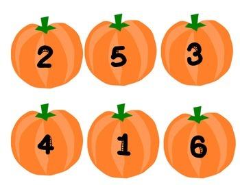 Pumpkin Math Sorting Mat 1-6