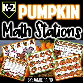 Pumpkin Math Stations and Centers *FREEBIE*