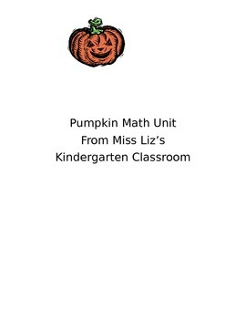 Pumpkin Math Unit